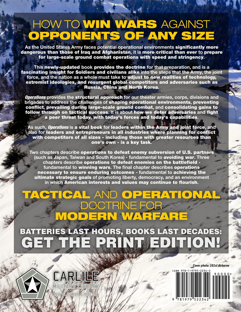 The Official US Army Operations Handbook: Current, Full-Size
