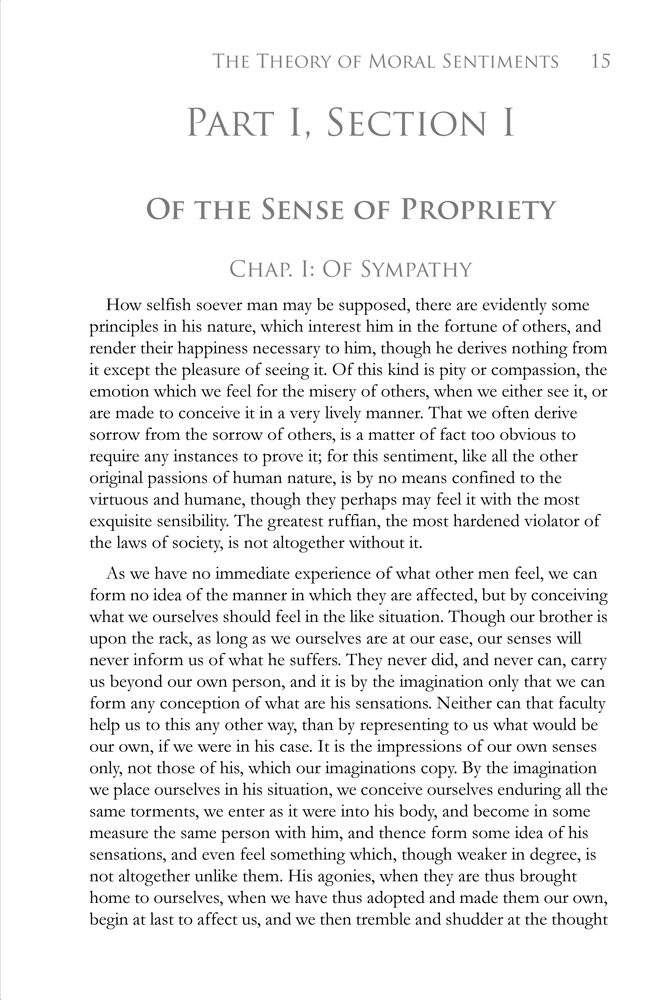 The Mind of Adam Smith Part 1: The Theory of Moral Sentiments: Example Page